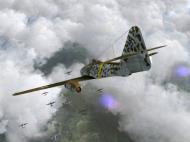 Asisbiz IL2 HS Me 262A 1.JG7 White 2 Erich Hohagen intercepting B 24s Liberstors Reich V01