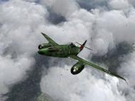 Asisbiz IL2 JA Me 262A 7.JG7 White 4 going vertical V01
