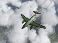 Asisbiz IL2 JA Me 262A 7.JG7 White 4 top profile view V01