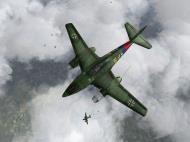 Asisbiz IL2 JA Me 262A1a 9.JG7 Yellow 5 top profile view V01