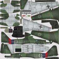 Asisbiz IL2 JA Me 262A1a Stab II.JG7 + Green 4 Germany 1945