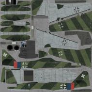 Asisbiz IL2 NN Me 262A1a Stab JG7 ((+Green 1 Germany 1945