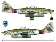Asisbiz Messerschmitt Me 262A1a Stab III.JG7 Gunther Wegmann WNr 111918 Parchim Germany March 1945 0A