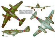 Asisbiz Messerschmitt Me 262A1a Swallow 7.JG7 White 3+I WNr 500071 Zurich Dubendorf 25th Apr 1945 0B