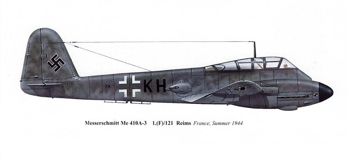 Messerschmitt Me 410A3 Hornisse 1.(F)121 (7A+KH) Reims France 1944 0A