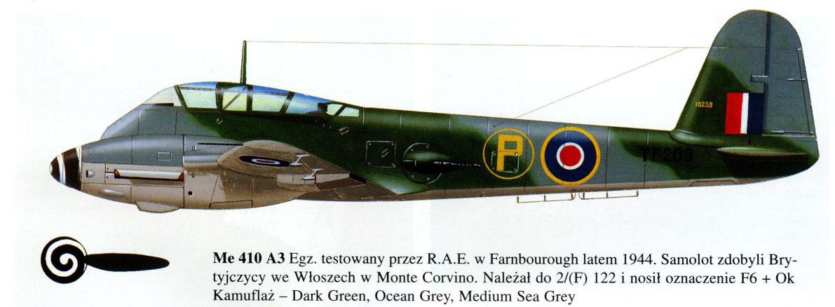 Messerschmitt Me 410A Hornisse 2.(F)122 (F6+OK) RAF 1944 0A