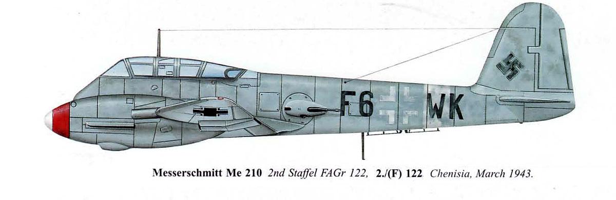 Messerschmitt Me 410A Hornisse 2.(F)122 (F6+WK) Italy 1943 0C
