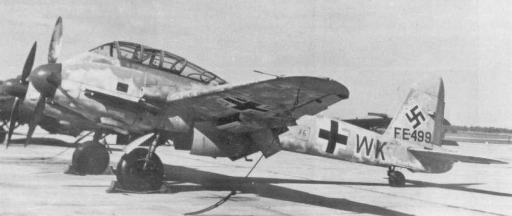 Messerschmitt Me 410A Hornisse 2.(F)122 (F6+WK) captured Italy 1944 03