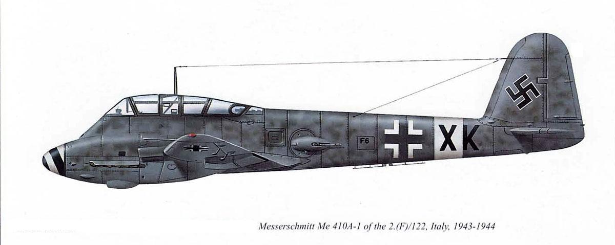 Messerschmitt Me 410A1 Hornisse 2.(F)122 (F6+XK) Italy 1943 0A