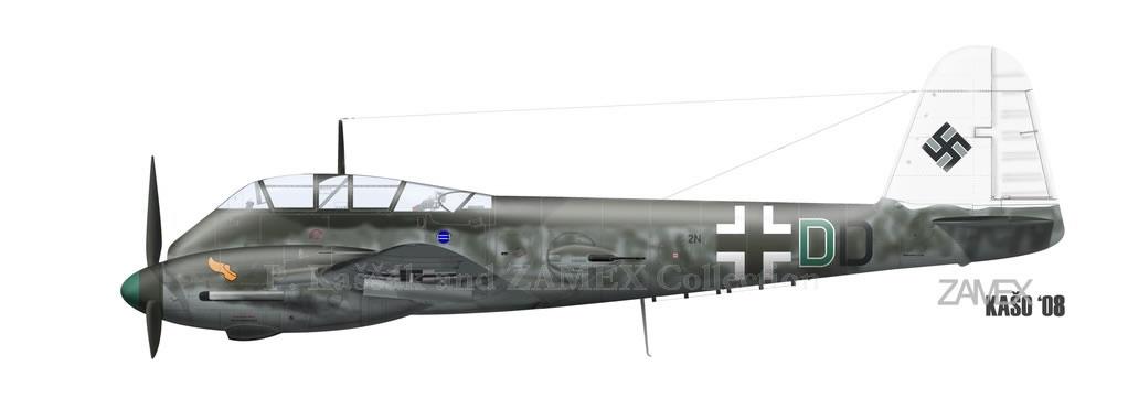 Messerschmitt Me 210C Hornet Stab III.KG1 (2N+DD) Italy 1943 0A