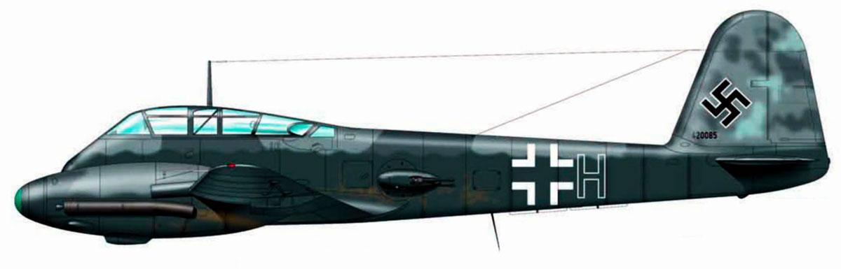 Messerschmitt Me 410A1 Hornisse 14.KG2 (U5+HE) WNr 420085 Merville 1942 0A