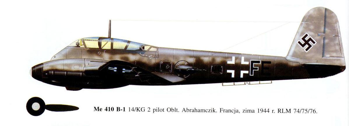 Messerschmitt Me 410B Hornisse 14.KG2 (U5+FE) Abrahamczik France 1944 0A