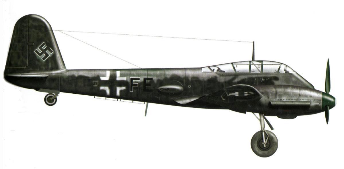 Messerschmitt Me 410B Hornisse 14.KG2 (U5+FE) Abrahamczik France 1944 0C