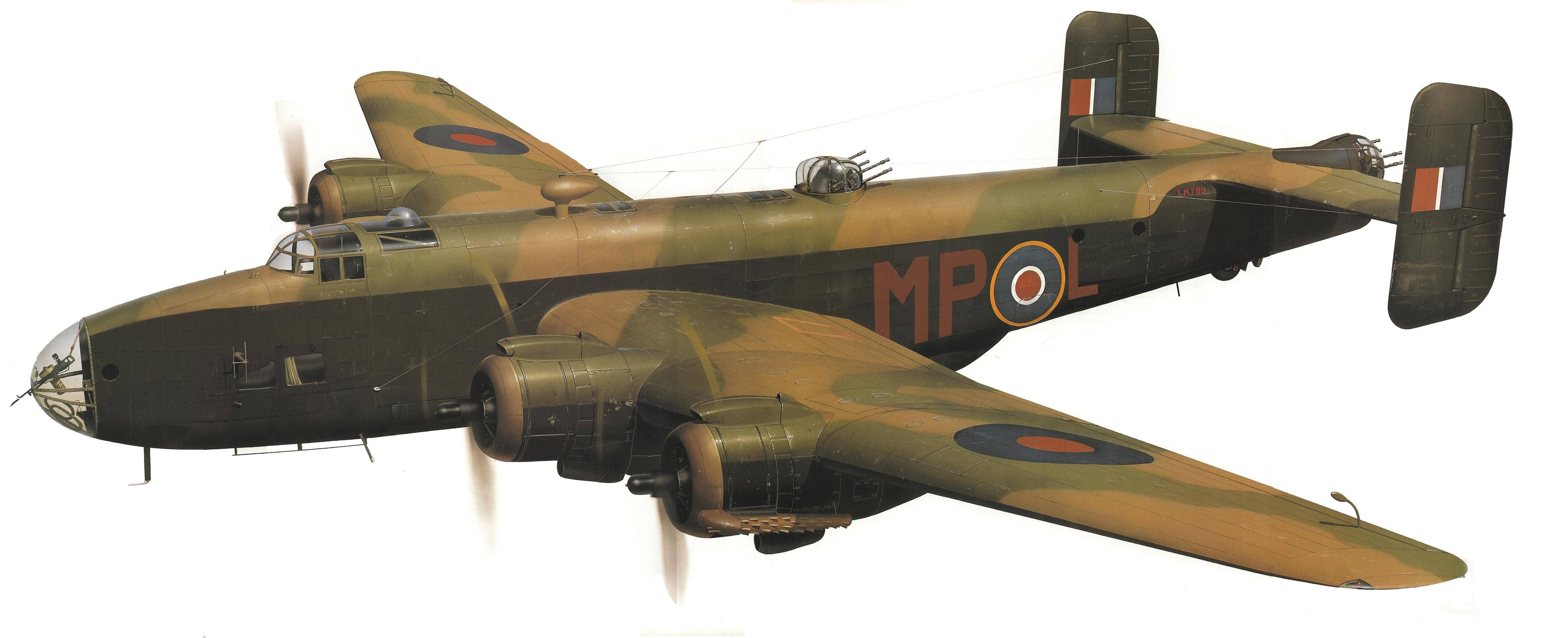 Halifax III LK789 of RAF 76 Squadron 0A
