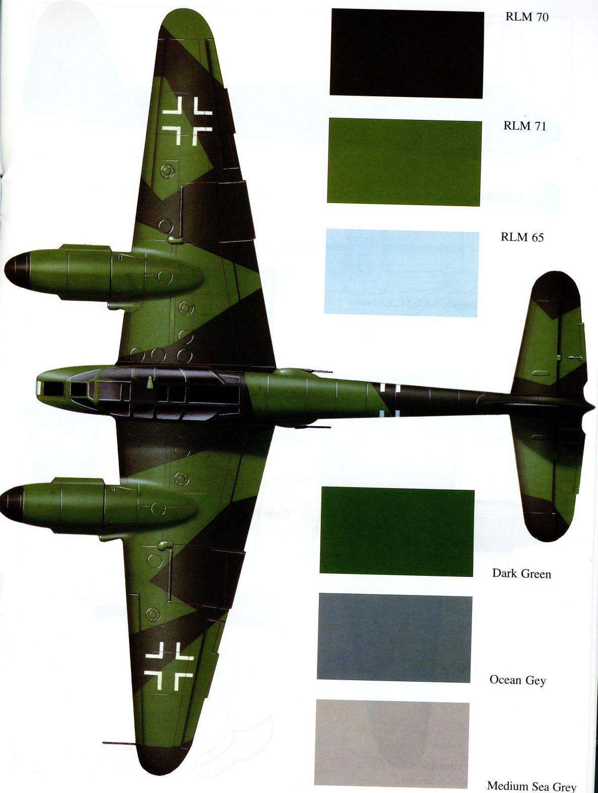 Messerschmitt Me 410A Hornisse 1.KG51 (8K+HH) France 1944 0A