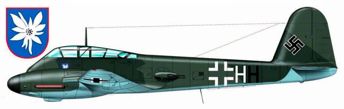 Messerschmitt Me 410A1 Hornisse 1.KG51 (9K+HH) Beauvias France 1944 0A