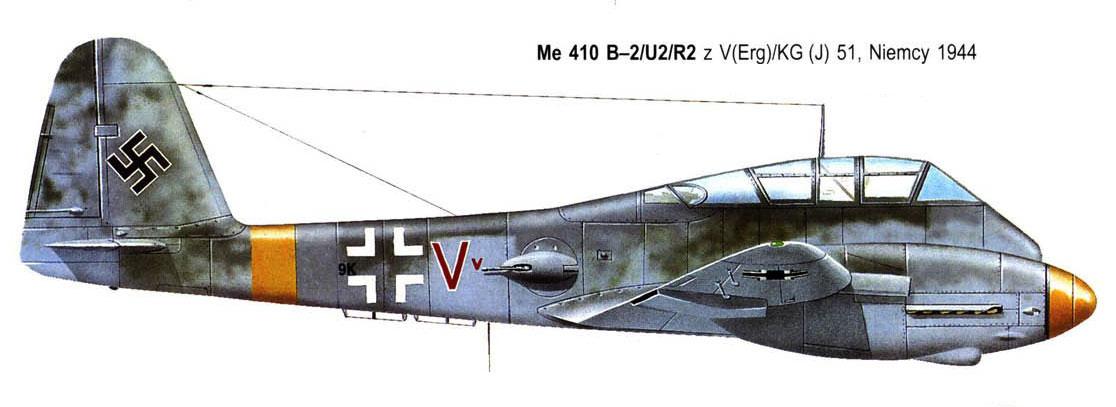 Messerschmitt Me 410B Hornisse 10.KG51 (9K+VV) Germany 1944 0A