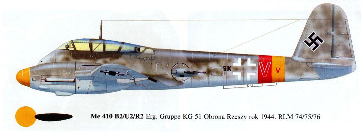 Messerschmitt Me 410B Hornisse 10.KG51 (9K+VV) Germany 1944 0B