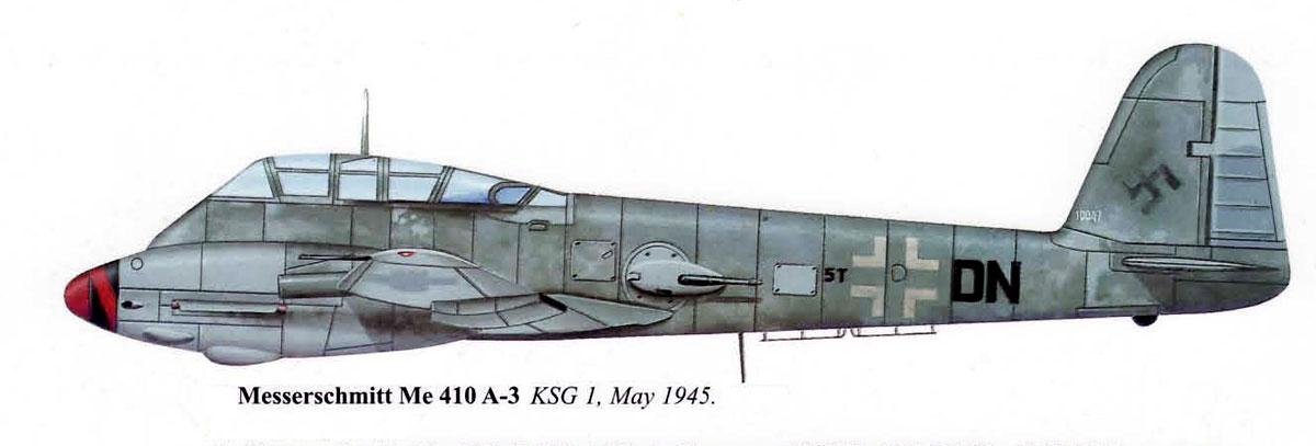 Messerschmitt Me 410A3 Hornisse KSG1 (5T+DN) May 1945 0A