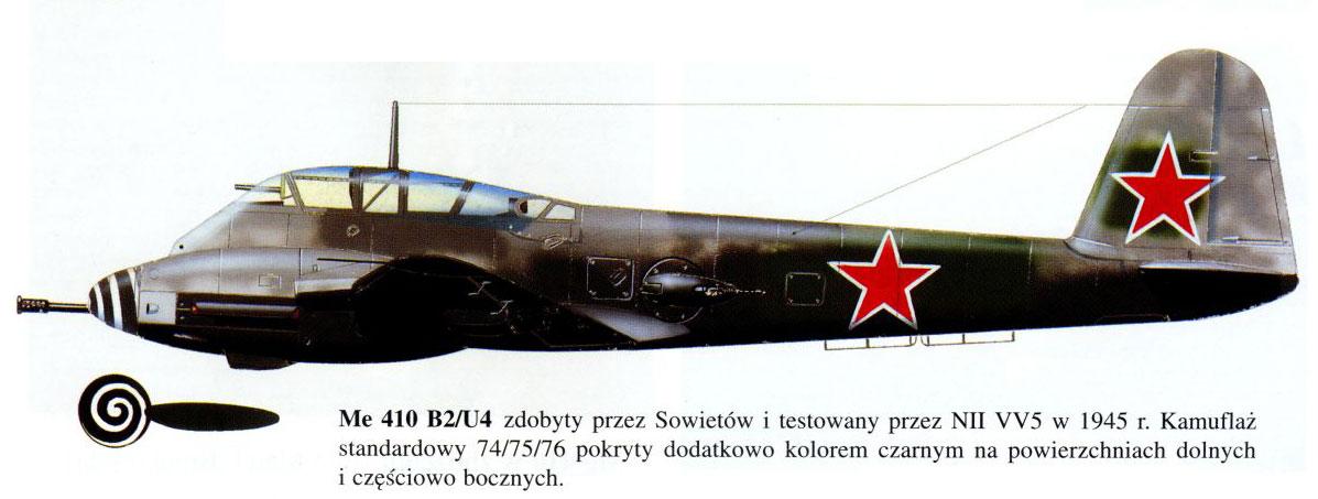 Messerschmitt Me 410B2 Hornisse USSR NII VV5 Ramienskoje Russia 1945 0B