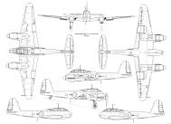 Asisbiz Messerschmitt Me 410A0 Hornisse 1 72 scale Line drawing 01