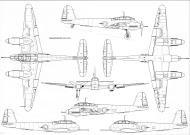 Asisbiz Messerschmitt Me 410A1 Hornisse 1 72 scale Line drawing 01