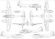 Asisbiz Messerschmitt Me 410A3 Hornisse 1 72 scale Line drawing 01
