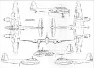 Asisbiz Messerschmitt Me 410C1 Hornisse 1 72 scale Line drawing 01