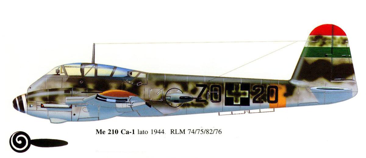Messerschmitt Me 210C Hornisse RHAF 102 (ZD+20) 0A