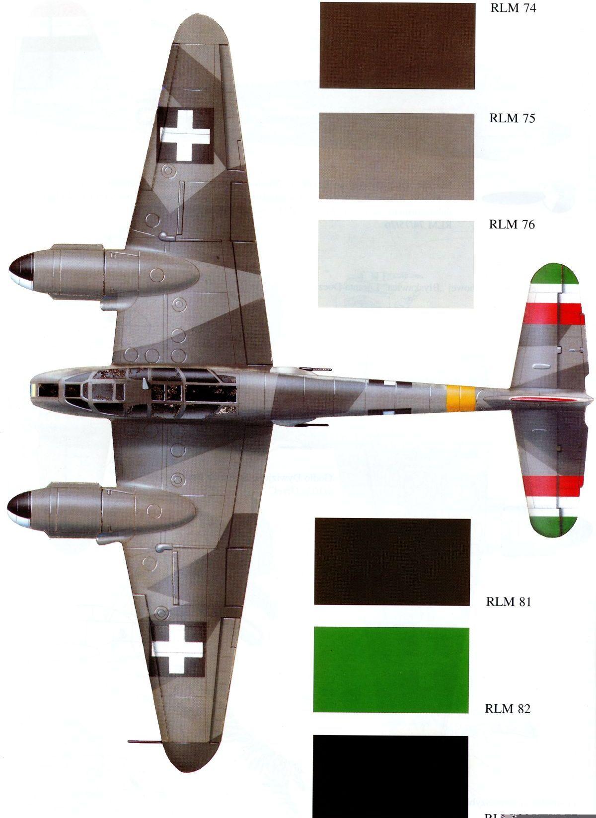 Messerschmitt Me 210C Hornisse RHAF NF5.1 (Z0+65) Hungary 1944 0A