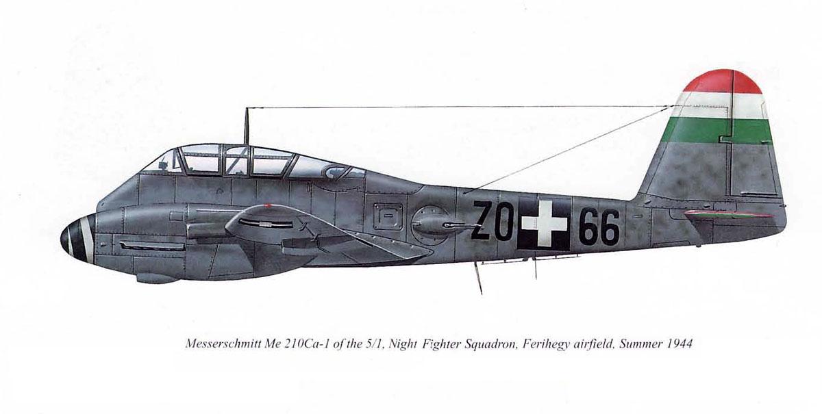 Messerschmitt Me 210C1 Hornisse RHAF 5.NF1 (Z0+66) Hungary 1944 0B