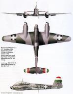 Asisbiz Messerschmitt Me 210C1 Hornisse RHAF 5.NF1 (Z0+66) Hungary 1944 0A