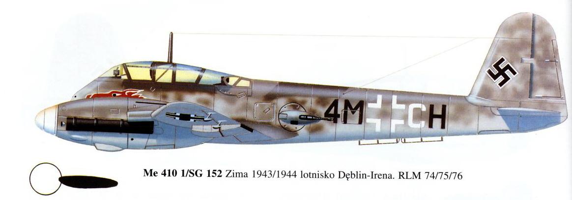 Messerschmitt Me 410A Hornisse 1.SG152 (4M+CH) Russia 1943 0A