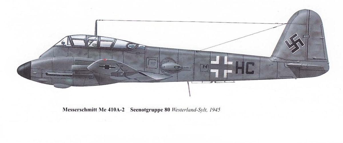 Messerschmitt Me 410A3 Hornisse SS80 (F4+HC) Denmark 1945 0A