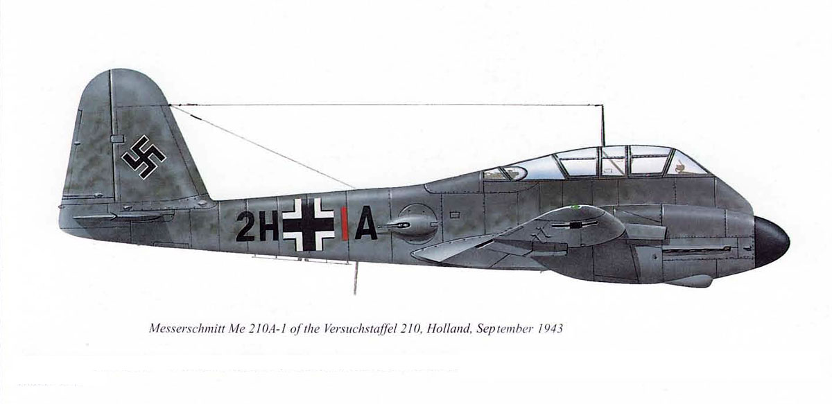 Messerschmitt Me 210A1 Hornisse VS210 (2H+IA) Holland 1943 0A