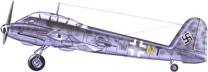Messerschmitt Me 210C Hornet 9.ZG1 (6U+NT) Germany 1944 0A