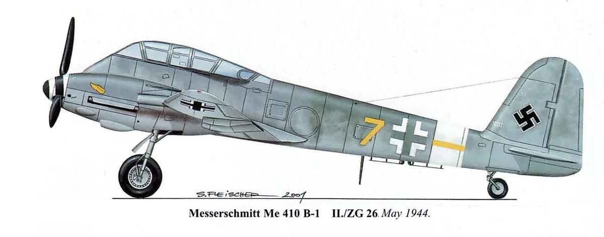Messerschmitt Me 410A Hornisse 6.ZG26 (Y7+ ) Germany 0A