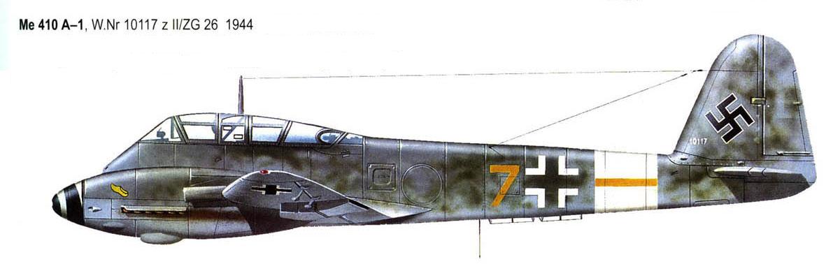 Messerschmitt Me 410A Hornisse 6.ZG26 (Y7+ ) Germany 0B
