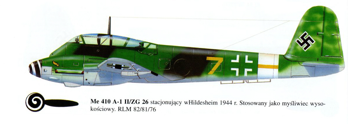 Messerschmitt Me 410A Hornisse 6.ZG26 (Y7+ ) Germany 0C