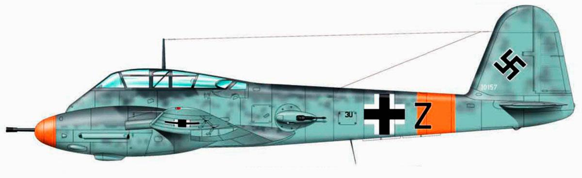 Messerschmitt Me 410A2U4 Hornet I.KG26 (3U+Z) WNr 10157 Konigsberg July 1944 0A