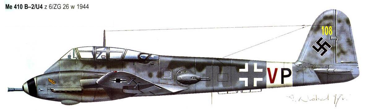Messerschmitt Me 410B Hornisse 6.ZG26 (3U+VP) WNr 420430 Germany 1944 0A