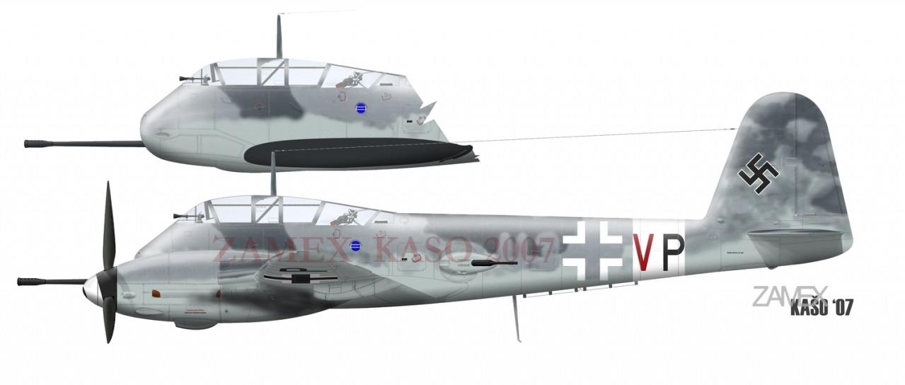 Messerschmitt Me 410B Hornisse 6.ZG26 (3U+VP) WNr 420430 Germany 1944 0B