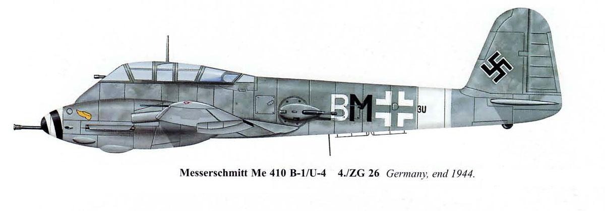 Messerschmitt Me 410B1 Hornisse 4.ZG26 (3U+BM) Germany 1944 0A
