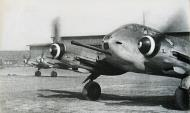 Asisbiz Messerschmitt Me 410B1U4 Hornisse 5.ZG26 during engine warm up Konigsberg Neumark 1944 01