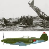 Asisbiz Mikoyan Gurevich MiG 1 unknown unit White 220 destroyed early Barbarossa 1941 0A