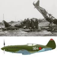 Asisbiz Mikoyan Gurevich MiG 1 unknown unit White 564 destroyed early Barbarossa 1941 0A