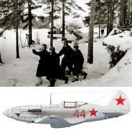 Asisbiz Mikoyan Gurevich MiG 3 124IAP Red 44 with Alexander G Pronin at Levashovo airfield 1941 01