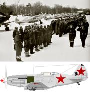 Asisbiz Mikoyan Gurevich MiG 3 12GvIAP Black 36 at Vnukovo airfield 7th Mar 1942 01