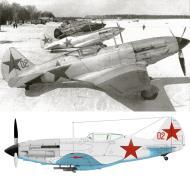 Asisbiz Mikoyan Gurevich MiG 3 12GvIAP Red 02 at Vnukovo Moscow 7th Mar 1942 0A