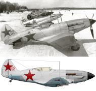 Asisbiz Mikoyan Gurevich MiG 3 12GvIAP Red 02 at Vnukovo Moscow 7th Mar 1942 0B